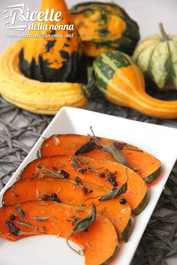 Zucca al forno - Pumpkin owen cooked