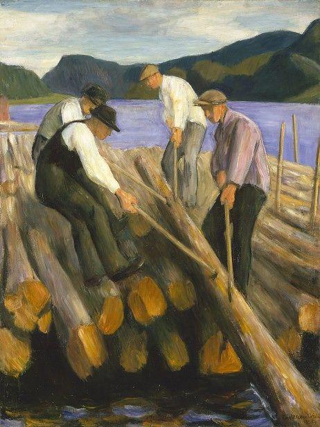 Lensekara, 1938, Erik Werenskiold. Norwegian Realist Painter (1855 - 1936)