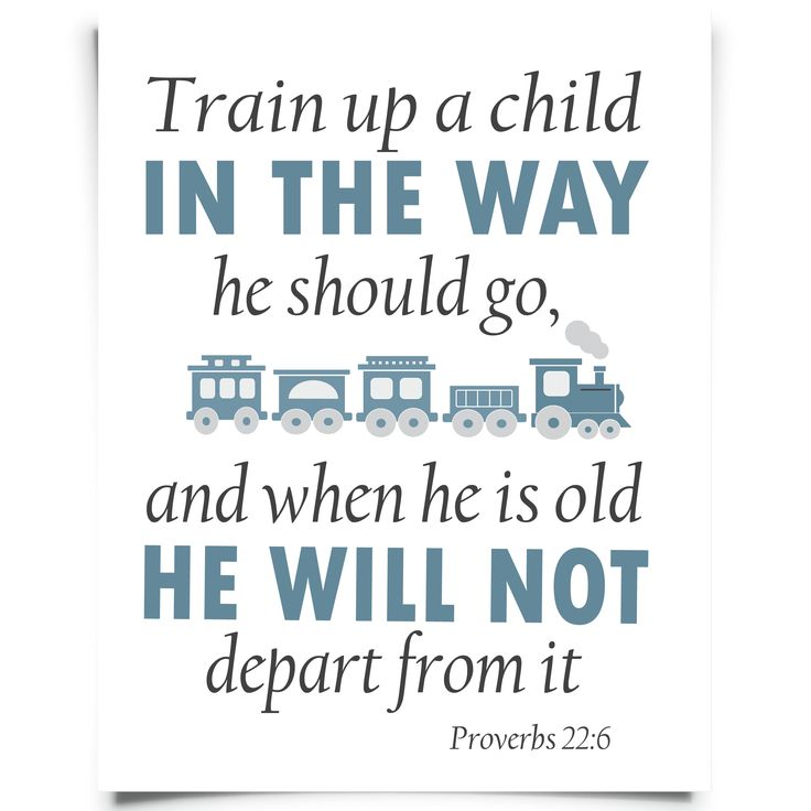 "FREE ""Train up a child"" Prov 22:6 printable nursery art from Chickadee Art and Company  http://www.chickadeeartandco.com/free-printables/"