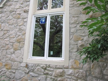 A new custom made Windsor Pinnacle Casement window fit the existing opening perfectly. No framing or trim modifications were necessary. Sold and installed by: Paint Pro, Inc., Overland Park, Kansas http://www.windsorwindows.com http://www.houzz.com/pro/windsorwindows https://www.facebook.com/WindsorWindows