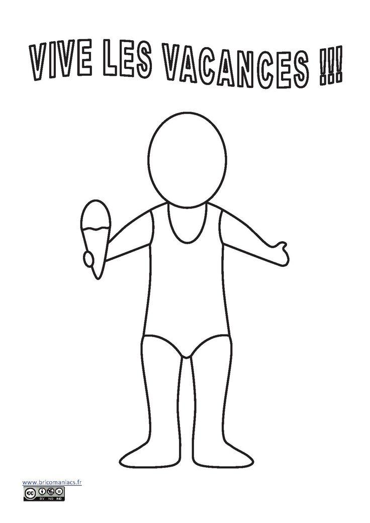 Pour les jours où il fait trop chaud ou trop mauvais, un petit autoportrait pour occuper votre fille.