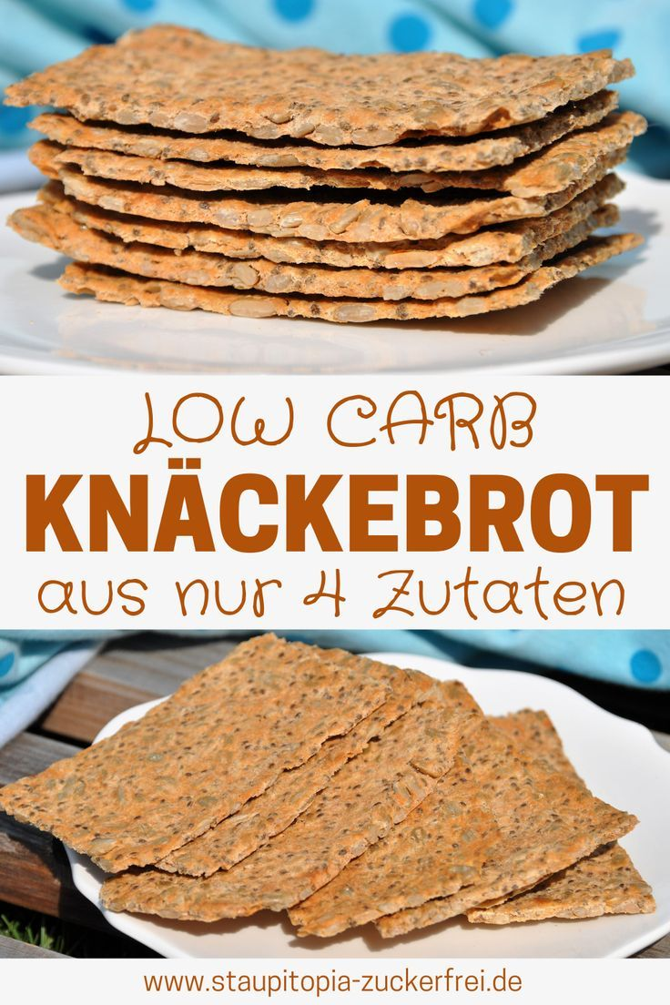 Jetzt knuspert's! Low Carb Knäckebrot aus nur 4 Zutaten – Staupitopia Zuckerfrei