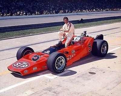 1971 Indy 500 STP Oil Treatment McNamara-Ford, driven by Mario Andretti. DNF crash T3. 8x10 Photo
