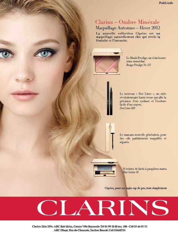 Clarins, Maquillage Automne - Hiver 2012 (publi-info)