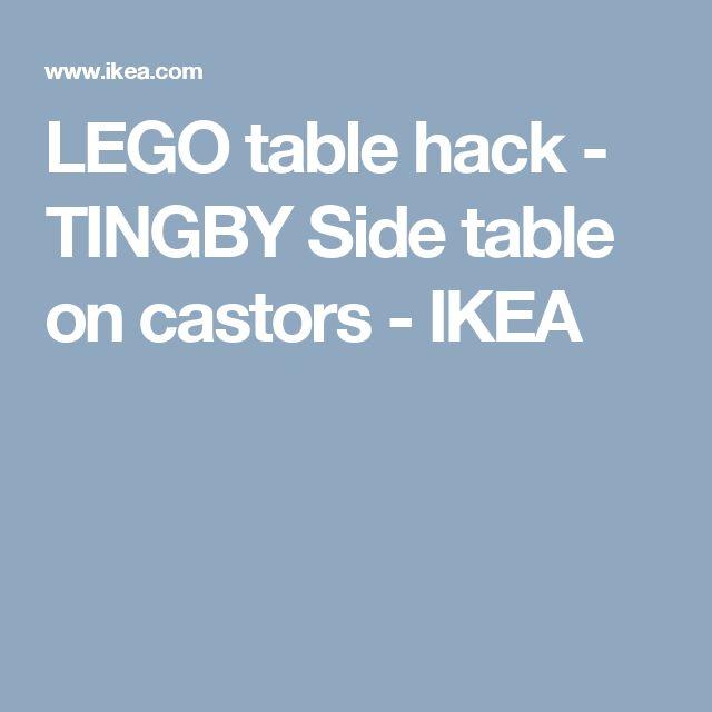 LEGO table hack - TINGBY Side table on castors   - IKEA