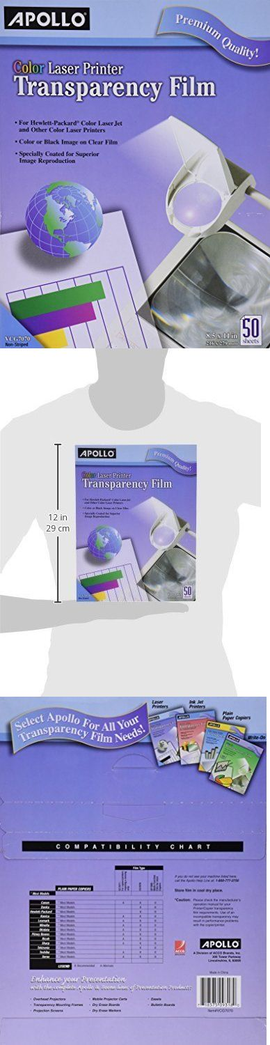 Window Hardware 45812: Apollo Color Laser Printer Transparency Film Without Sensing Stripe 8.5 X 11In 5 -> BUY IT NOW ONLY: $120 on eBay!