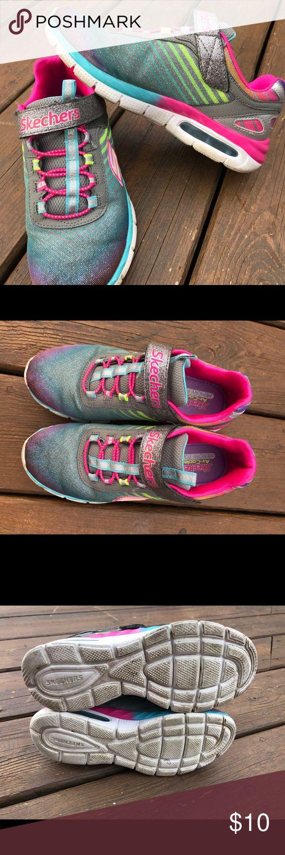 Girls Skechers sneakers Skechers for girls size 4. Velcro closure... minimal wear. Skechers Shoes Sneakers