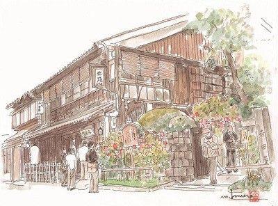 坂本龍馬で有名な寺田屋を描きました。時代がたっても存在感がある寺田屋。今日もたくさんの観光客で賑わっています。このような歴史的な建物がいつまでも存続されること... ハンドメイド、手作り、手仕事品の通販・販売・購入ならCreema。