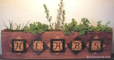 herb garden indoor window sill box plans
