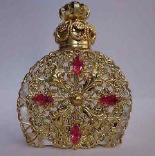 Luxus Vintage Cseh Kézzel készített strassz Glass üveg parfüm