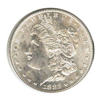 Morgan Silver Dollar Uncirculated 1882-S | Golden Eagle Coins