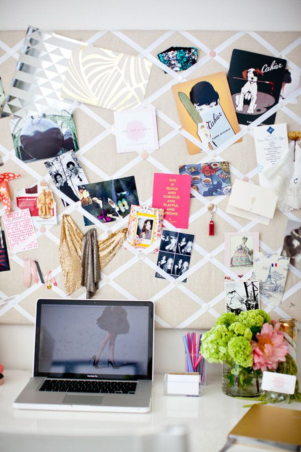 i wish i had a job that required me to have a pottery barn home office with an inspiration board and a mac.