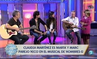 Claudia Martínez y Marc Parejo, son los nuevos protagonistas del musical de Hombres G. http://www.telecinco.es/quetiempotanfeliz/Claudia-Martinez-Marc-Parejo-Marta_2_1595505068.html