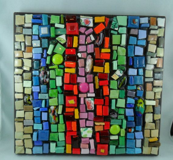 bright fun mosaic wall art home decor original by mosaicsbymargo