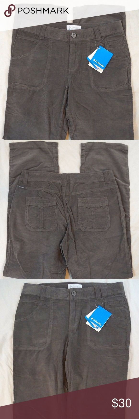 "Columbia Sportswear Vapor Trail Gray Corduroy Pant Columbia Sportswear Vapor Trail Gray Corduroy Womens Pants Size 10R NWT   Hand Measurements: Waist: 32"" Inseam: 32"" Rise: 9.5"" Hips: 38"" Leg Opening: 8.5""  #119 Columbia Pants Boot Cut & Flare"