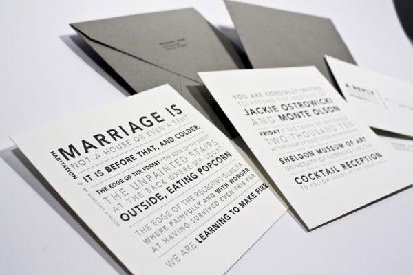 formal banget kartu undangan pernikahan letterpress ini dicetak dengan tinta warna abu