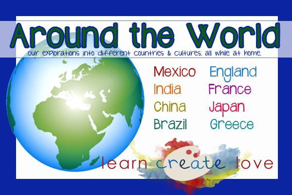 Around the World crafts and learning activities