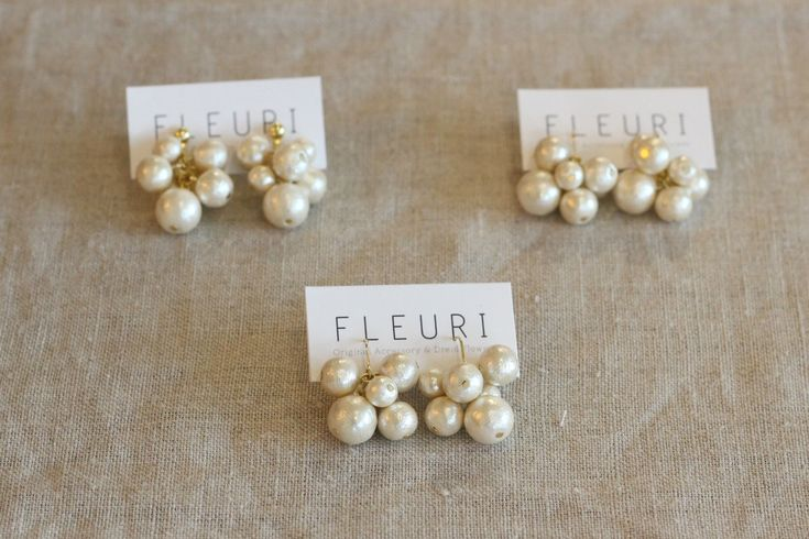  FLEURI(フルリ) コットンパール アクセサリー ピアス ワークショップ  accessory
