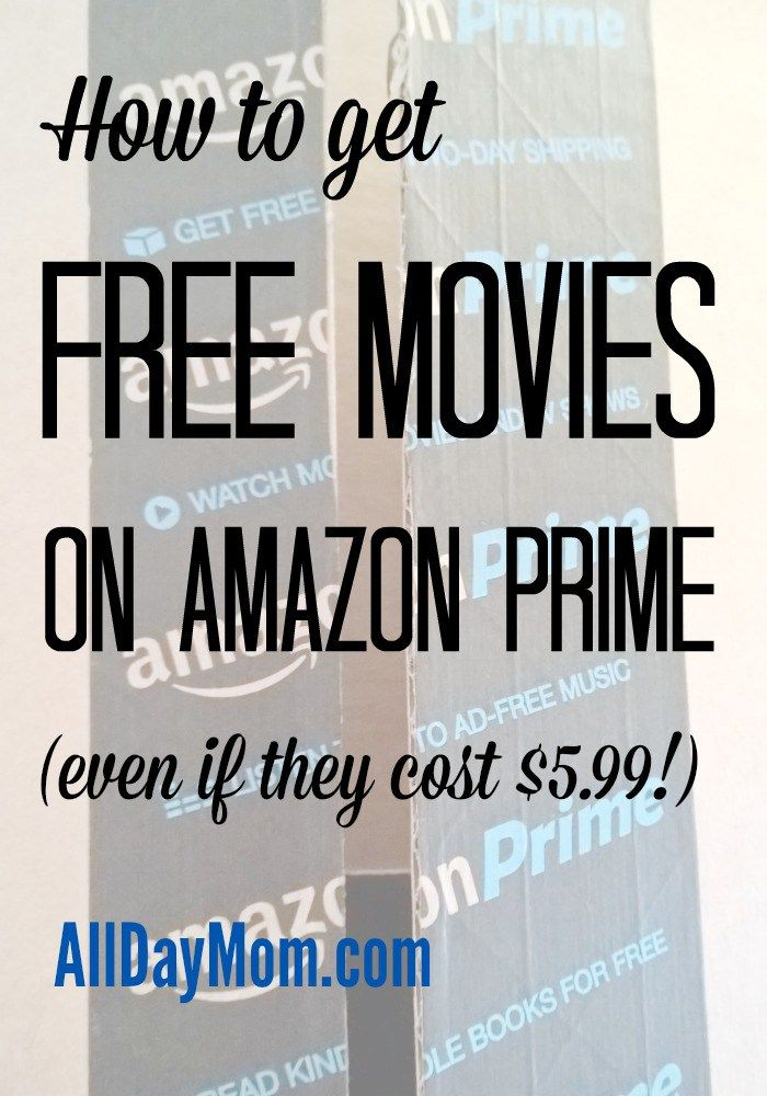 Learn how you can rent free Amazon Prime movies—even if they cost $5.99! Rent free movies on Amazon Prime with these money saving tips from All Day Mom!