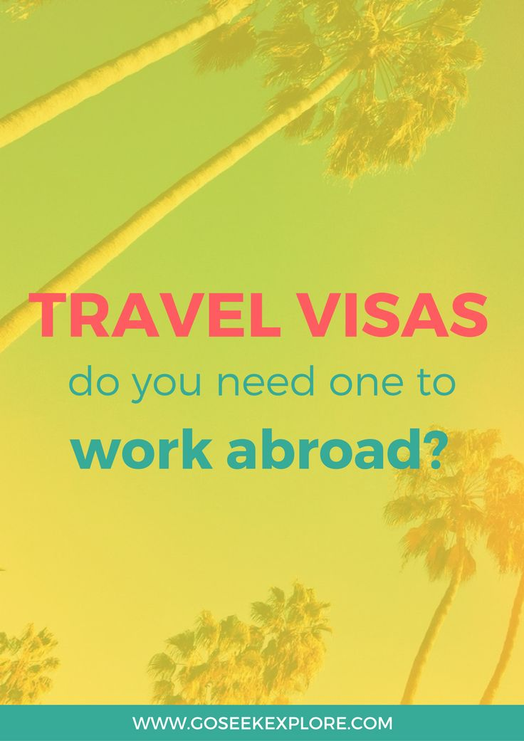 Do you need a visa to work and travel abroad? This post breaks down the various types of travel visas if you're considering working in a foreign country! It's helpful to break it down and see what the different types actually *are* and whether you'll need one or not.