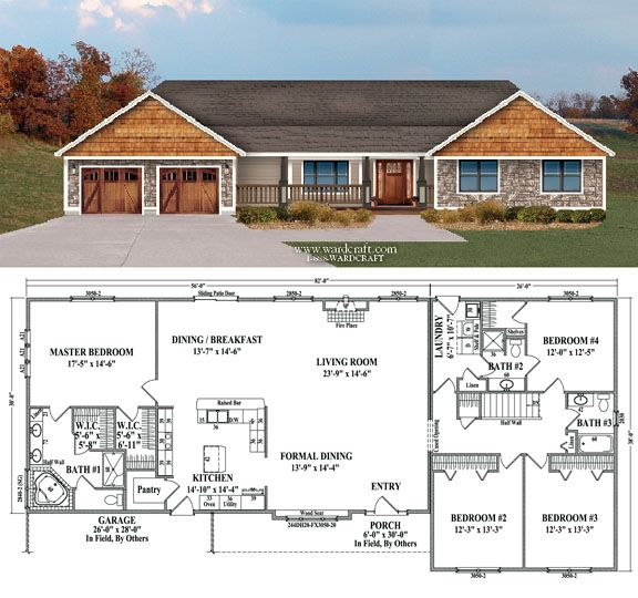 Fairview  4 Bedrooms, 3 Baths  2,668 sq