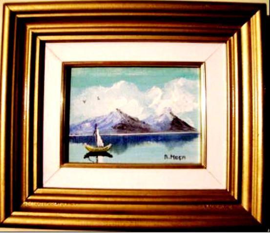 Primeira obra   Pintora Adelaide Moça
