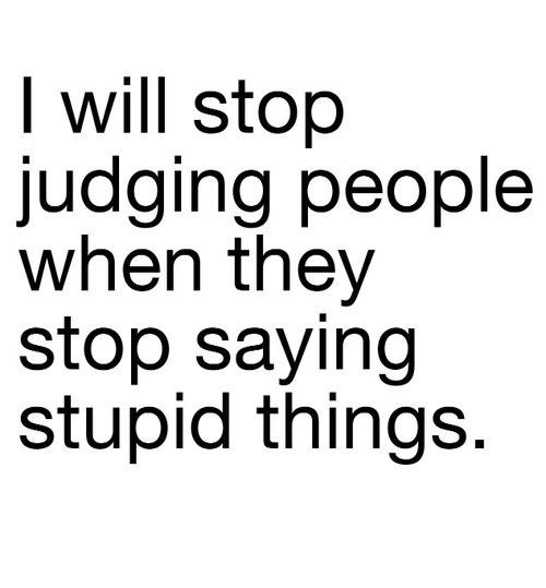 Judging people