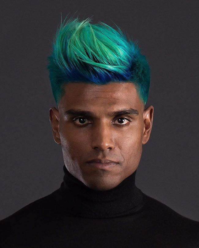 60 Best Summer Hair Colors For Men Add The Vibe In 2019 Men Hair Color Peacock Hair Color Boys Colored Hair