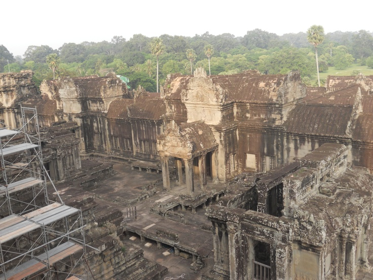 From inside Angkor Wat