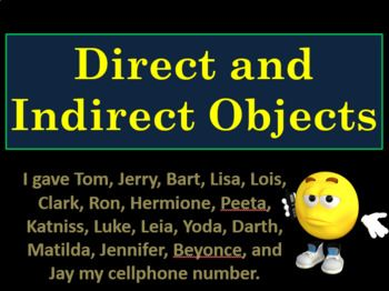 In this PowerPoint presentation with guided notes, you can introduce direct and indirect objects, transitive and intransitive verbs, predicate nominatives and predicate adjectives! Students can follow along with guided notes that include practice sentences!