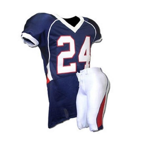 American Football Uniforms:- SKU: SSW-12702 1:- Material: 100% Polyester 260 gsm lycra fabric, 180gsm dazzle fabric, mesh fabric 2:- Printing: Sublimation Printing (Heat Transfer Printing)--Colorful and personal logo printed on quick dry polyester material, better for sportswear. • Size: European and American size, all size are available, from Youth (4. 6. 8. 10. 12. 14. 16)  to  Adults(3XS. 2XS. XS. S. M. L. XL. 2XL. 3XL. 4XL) • Color : All colors are available. Advantage  • Sublimation…