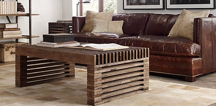 Reclaimed Timber Slat Coffee Table Restoration Hardware Love It Furniture To Build