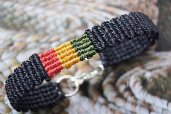 Skinny Macrame Bracelet, Handcrafted, Artisan Jewelry, Red Gold Green Bracelet, Macrame Bracelet, Rasta Bracelet