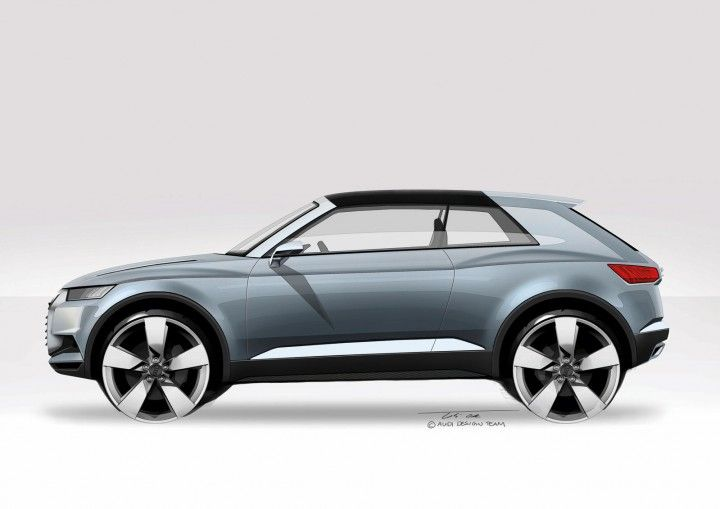 Audi Crosslane Coupe Concept - Design Sketch