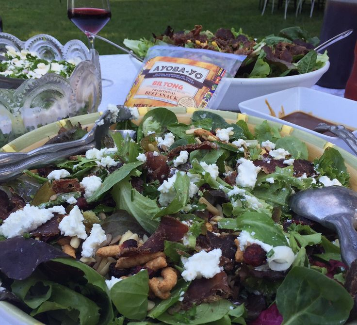Biltong Salad is a must try for your next Braai! Click on the image to be directed to our website for our recipe.