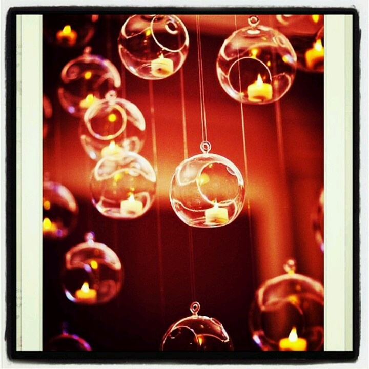 Bolas de acrílico + velas