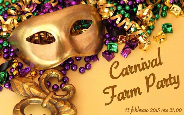 #CarnivalFarmParty Il giorno 13 febbraio ore 21 festa in maschera con cena a base di prodotti tipici e tanto divertimento. www.ilpago.eu