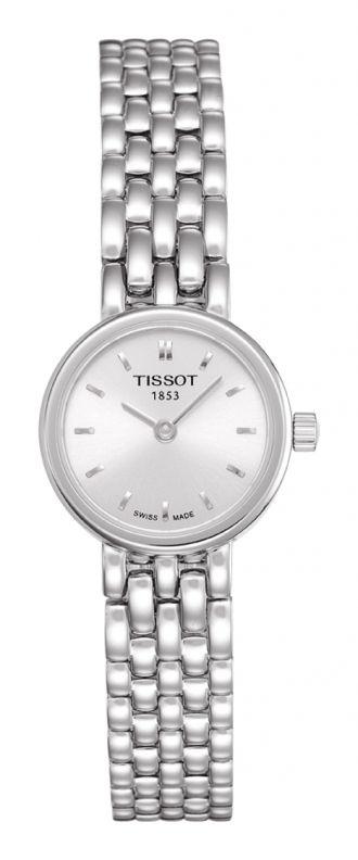 Tissot Lovely i stål med lenke - Enkel, slank, sølvfarga klokke.