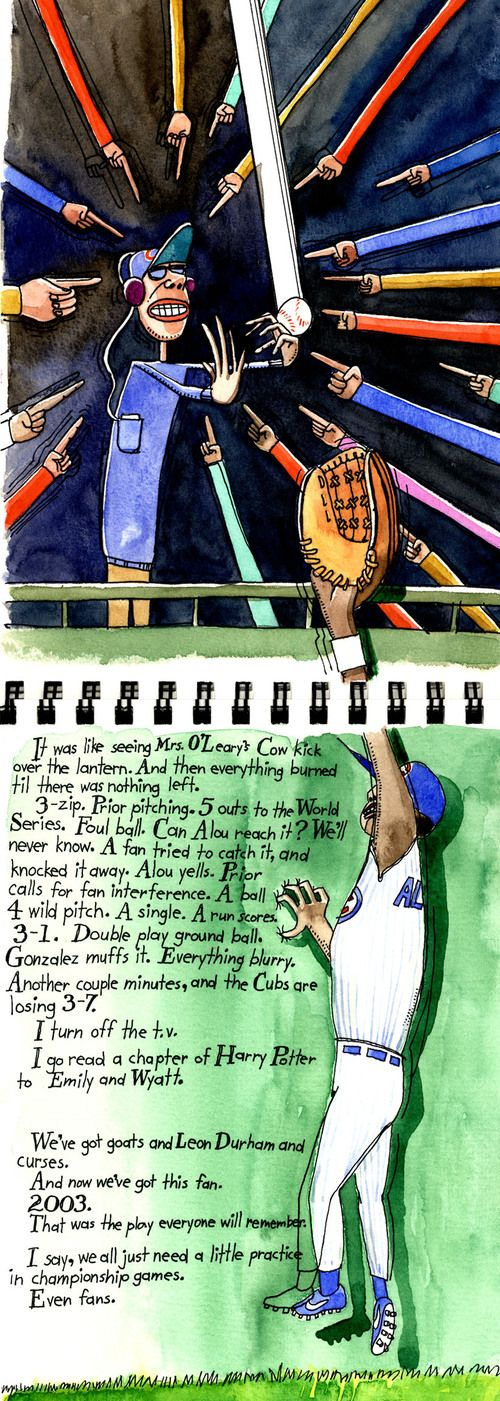 Bartman, Moises Alou, 2003 NLCS, Florida Marlins, Wrigley Field by Tim Souers