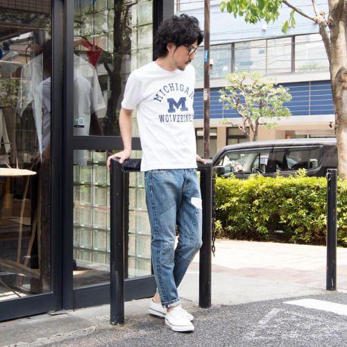 Tシャツ1枚でも抜群の存在感を持つカレッジプリントTEE。 MICHIGAN [AUD1769] (White) メンズ http://www.aud-inc.com/product/1988 レディース http://www.aud-inc.com/product/1998 UCLA [AUD1701] (Black) メンズ http://www.aud-inc.com/product/1996 レディース http://www.aud-inc.com/product/2006 各校から許諾得てプリントされたインパクトあるプリントに、6.6ozのしっかりとした生地を使用。 薄手の生地よりも、生地自体の存在感も合わさる事でシンプルになりがちな 夏のTシャツスタイルをしっかりとインパクトのあるものに。  *Coordinate Bottoms* [AUD3353] メンズ http://www.aud-inc.com/product/2444 レディース http://www.aud-inc.com/product/2475