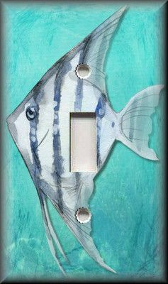 Light Switch Plate Cover Angel Fish Tropical Bathroom Beach Home Decor | eBay