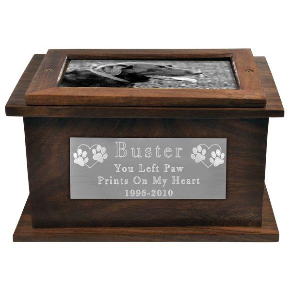 Photo Wood Dog Urn