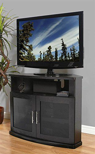 Plateau Newport 40 B Corner Wood Tv Stand 40 Inch Black Oak Finish