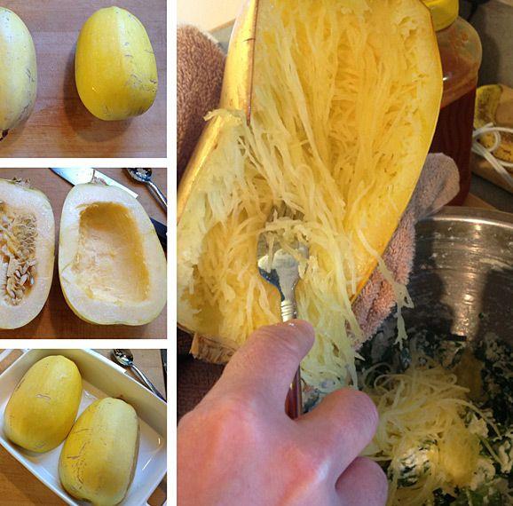 How to cook spaghetti squash.