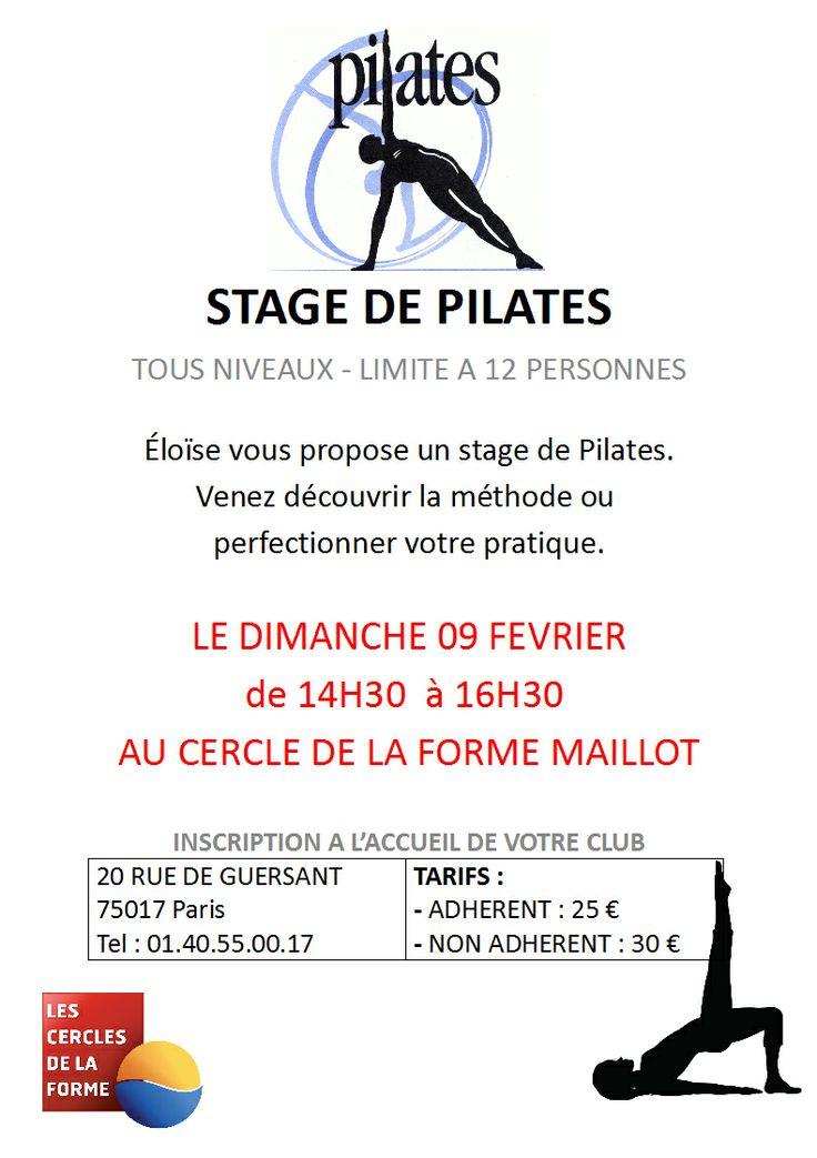 Stage de #pilates avec Eloïse venez nombreux http://www.cerclesdelaforme.com/fr/cours-pilates-paris/ #cours #cdlf #bodybalance
