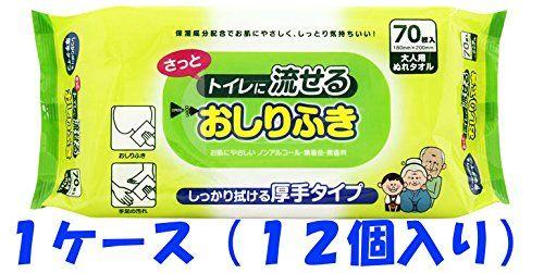 Amazon.co.jp: 【1ケース】流せるおしりふき大人用 70枚×12個: ヘルス&ビューティー