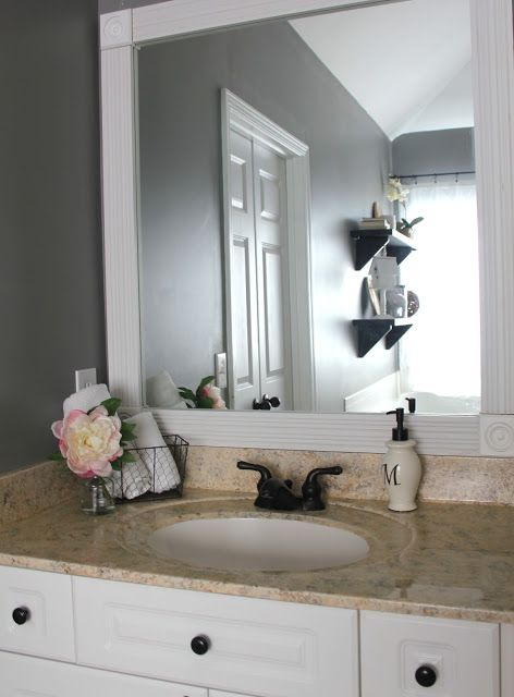 17 Best Ideas About Frame Bathroom Mirrors On Pinterest Bathroom Mirrors Framing Mirrors And