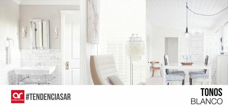El color blanco nunca pasará de moda en la decoración, la elección del blanco como color principal garantiza la creación de ambientes suaves en los que se puede destacar su pureza, simplicidad y elegancia #TendenciasAR