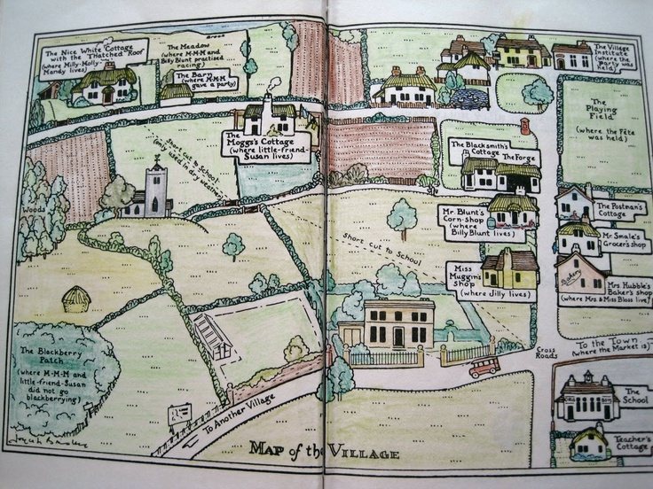 I love maps in books and it all stems from these Millie Molly Mandy books I read as a child.