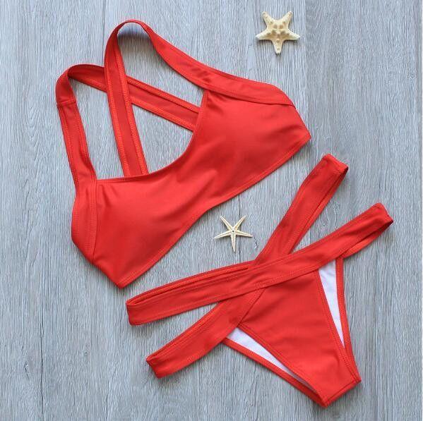 Hot Swimwear Bandage Bikini 2017 Sexy Beach Swimwear Women Swimsuit Bathing Suit Brazilian Bikini Set maillot de bain Biquini